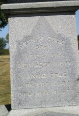 Seth and Fanny Warren Cole stone