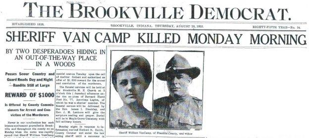 VanCamp, Brookville Democrat, Aug. 23, 1923