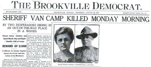 VanCamp, Brookville Democrat, Aug. 23, 1923