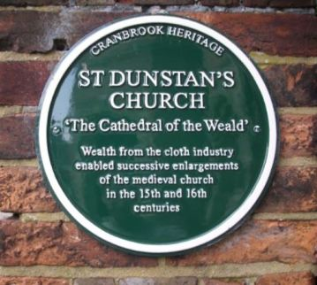St. Dunstans Church plaque