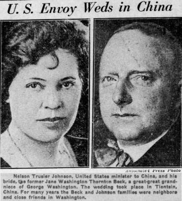 Trusler and Washing wed, Oct. 1931