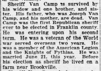 VanCamp article, Aug 2, 1923