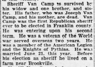 VanCamp article, Aug 2, 1923