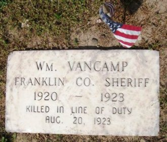 Sheriff William VanCamp plaque