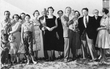 Pete's christening, 1956